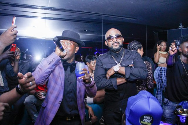 Flowking Stone Celebrates VGMA Award At Ciroc Party With Banky W