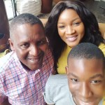 Omotola Celebrates Aliko Dangote's 60th Birthday With Cute Selfie