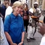 White lady speak Yoruba with Ooni of Ife