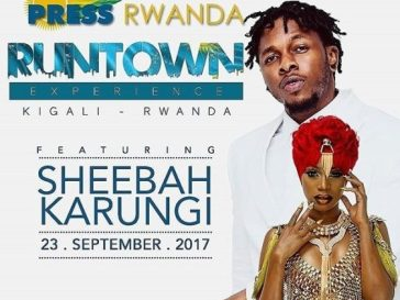 Sheebah Karungi And Runtown Set To Rock Rwanda