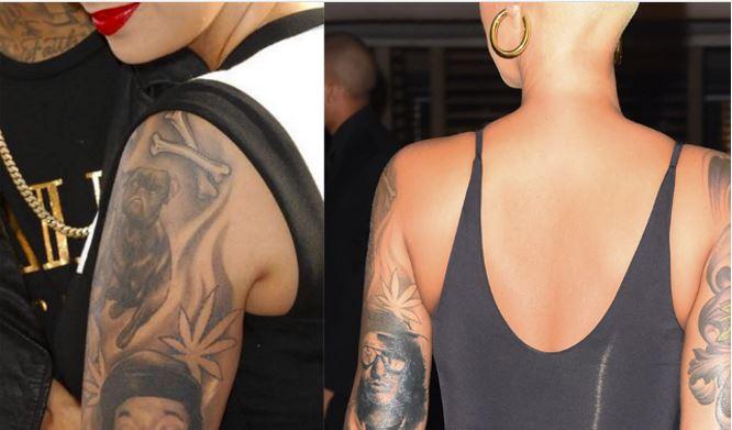 5eca231811cf3 Amber Rose Has Finally Got Rid Of Wiz Khalifa Tattoo…Guess Who She Replaced  It With?!!
