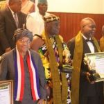 Ghanaian Actor Kofi Adjorlolo Honoured In Liberia