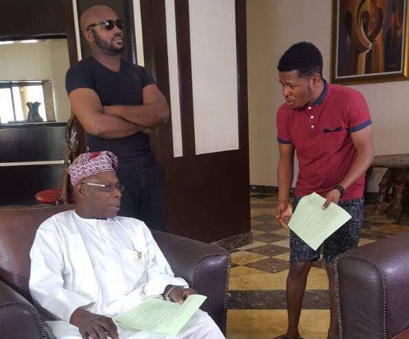 Ex-Nigerian President Obasanjo Lands First Nollywood Movie Role [Photos]