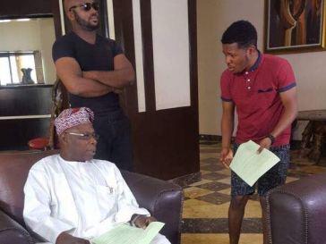 Ex-Nigerian President Obasanjo Lands First Nollywood Movie Role [Photos]