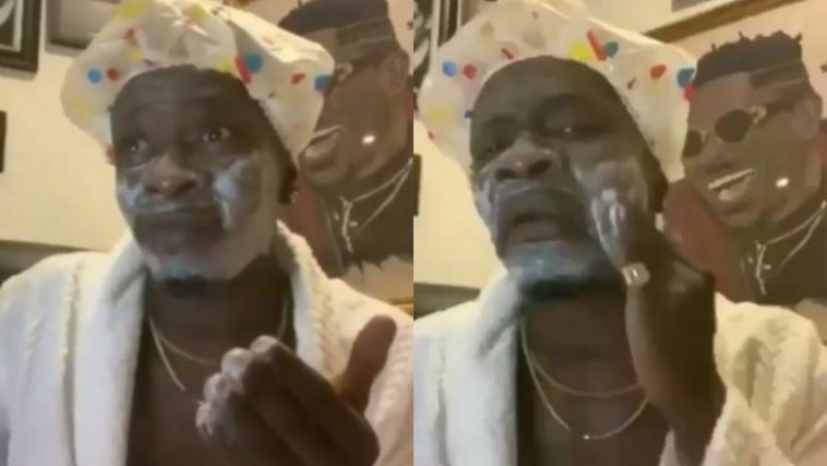 Shatta Wale applying soap, Shatta Wale funny video