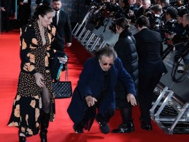 Actor Al Pacino Falls On The Red Carpet