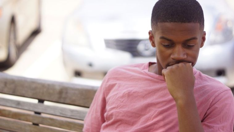 depressed black man