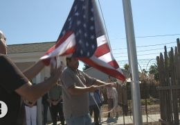 Flag is Raised at Veterans Tiny Home Village