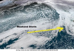 Weekend Storm Trending Wet for Sonoma County