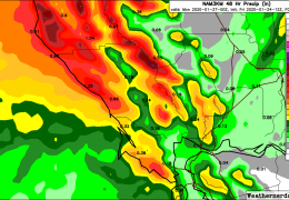 Rain Late Saturday, Then Dry Pattern Sets In