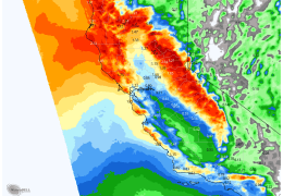 CHRISTMAS GIFT TO CALIFORNIA: STORMS TRENDING WETTER