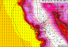 Big Heat Up Coming. 10-15 Degrees Plus Above Normal This Weekend.