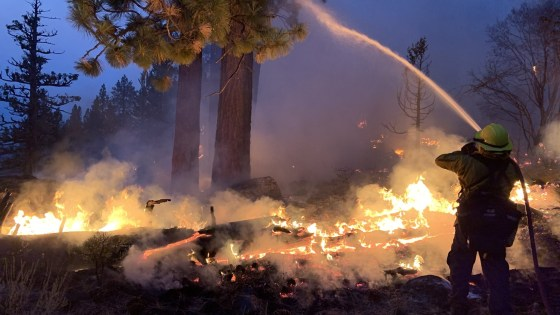 CALDOR FIRE UPDATE. MINIMAL FIRE GROWTH, INCREASED HUMIDITY, LIGHT WINDS.