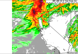 GOOD RAINS FORECAST FOR HILLS OF NORTH BAY. FIRE WEATHER WATCH SUNDAY NIGHT.