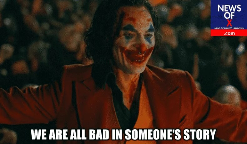joker we are all bad in someone's story