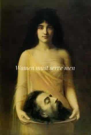 women must serve men meme