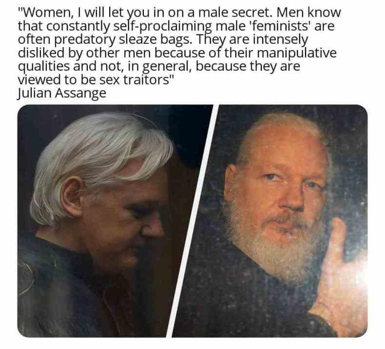 julian assange men meme