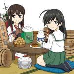 【画像あり】艦これカレー(1000円)とガルパン海鮮丼(800円)の差がこちらwwwwwwww