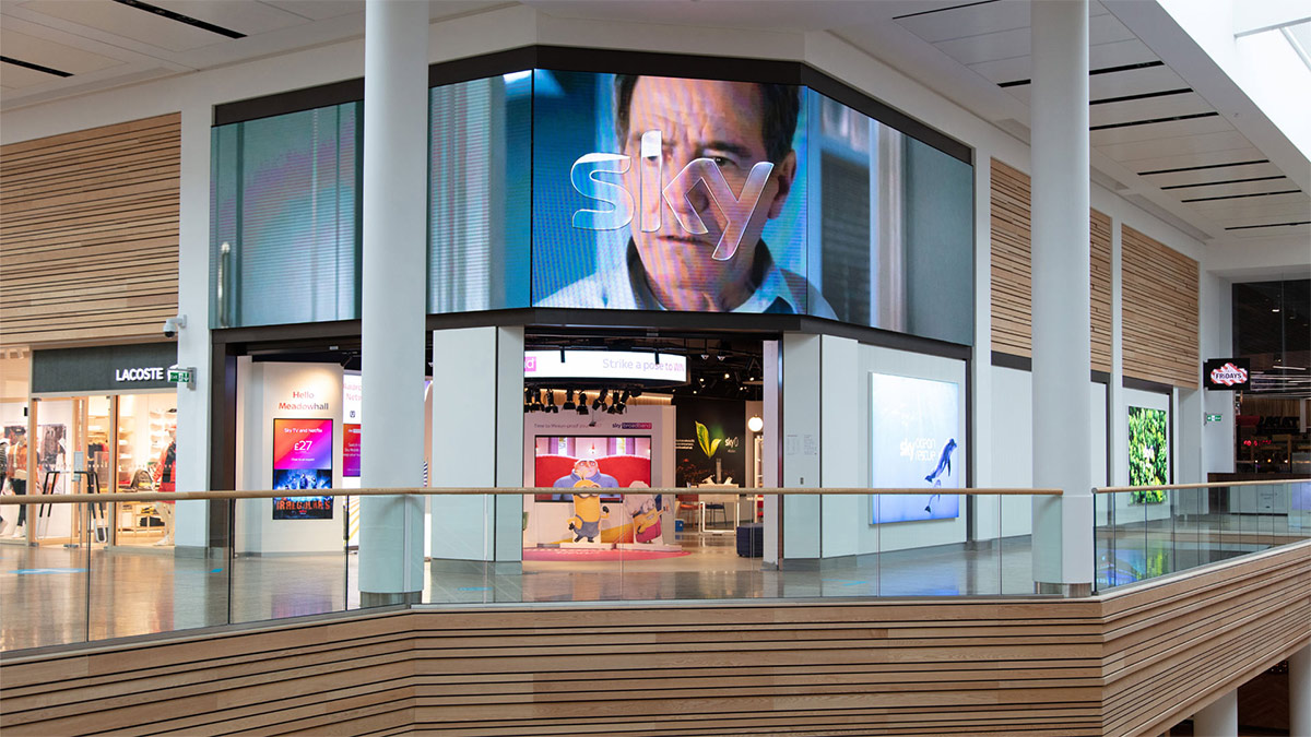 Sky Retail Store at Sheffield's Meadowhall