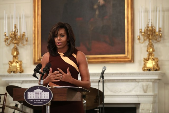 First Lady Michelle Obama Welcomes High School Students For History Of Jazz Student Workshop