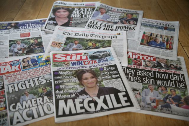 UK Newspapers React To The Duke And Duchess Of Sussex Interview With Oprah Winfrey