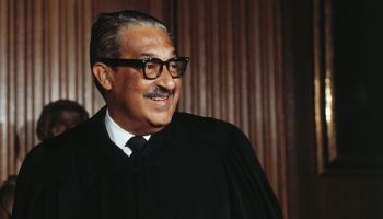 Supreme Court Justice Thurgood Marshall Smiling