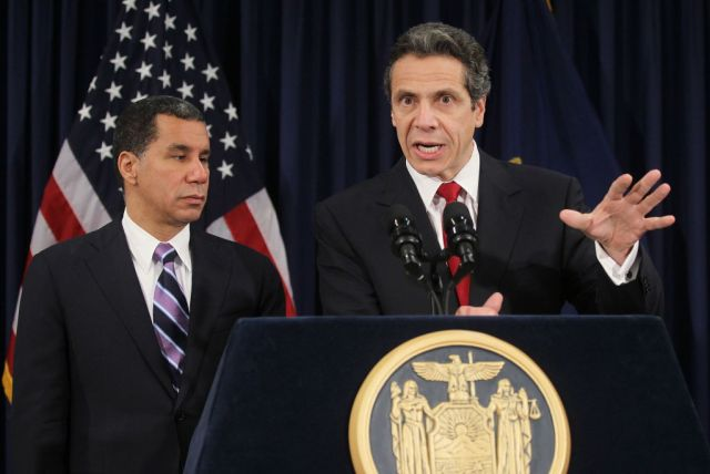 Andrew Cuomo Meets With Current NY Gov. David Paterson