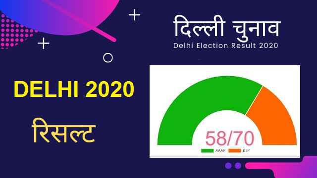 दिल्ली चुनावों के लाइव रिजल्ट – Delhi Election Result 2020 live