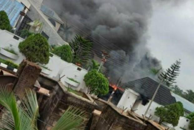 Governor Hope Uzodinma Residence Set On Fire