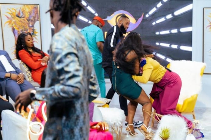 Lucy And Kaisha Fighty Dirty On Live TV During BBNaija Reunion 2021