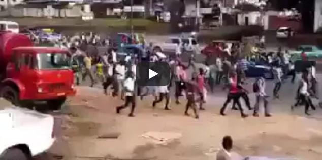 IPOB Members Begin Massive Protest