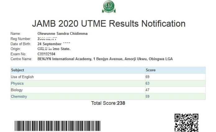 jamb 2021 result checker