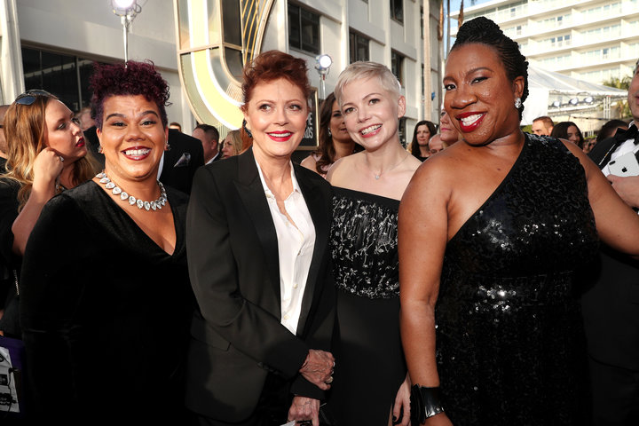 Rosa Clemente, Susan Sarandon, Michelle Williams and Tarana Burke.