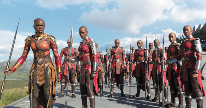The badass Dora Milaje warriors.