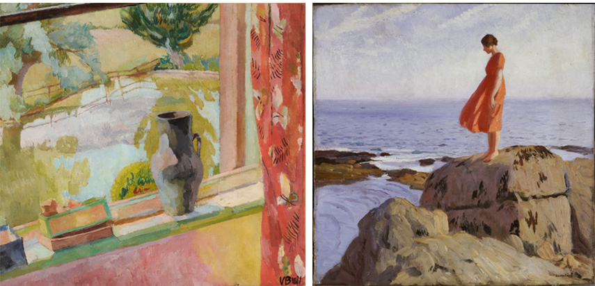 Left Vanessa Bell View of the Pond at Charleston, East Sussex Right Dame Laura Knight The Dark Pool