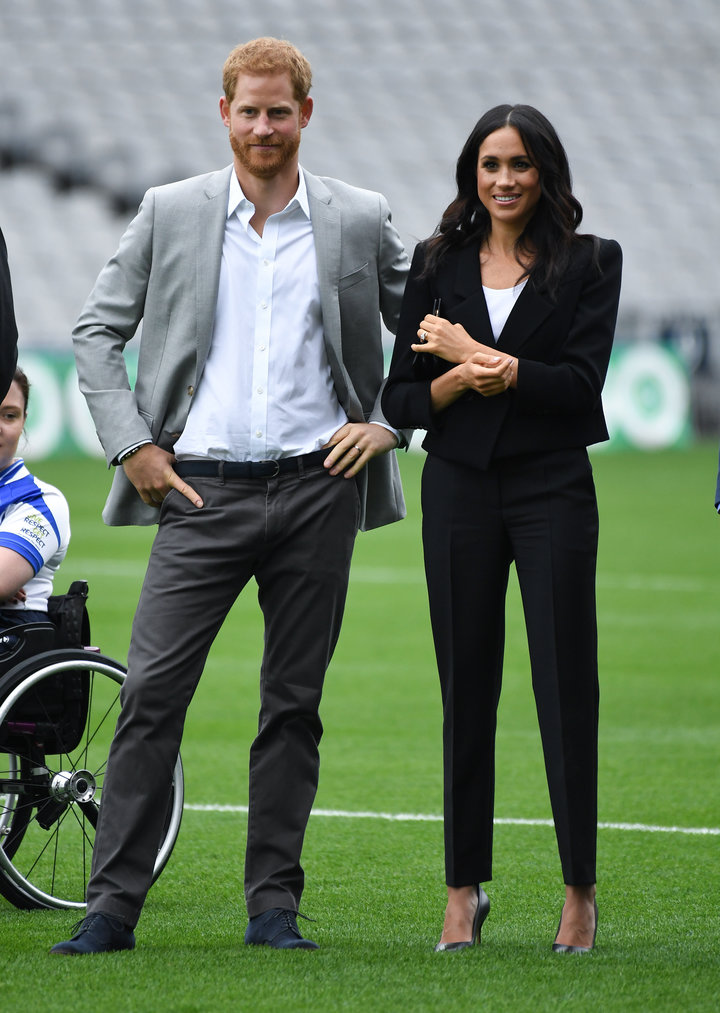 The Duke and Duchess of Sussex during a visit to Croke Park on the second day of their visit to Dublin, Ireland on Wednesday,