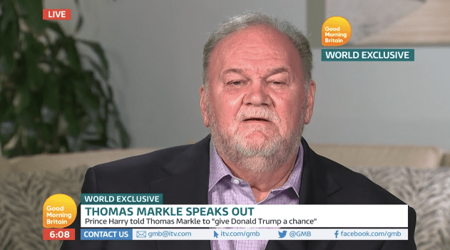 Thomas Markle is asking for a relationship with his daughter again.