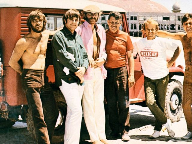 PHOTO: Murray Wilson and the Beach Boys, from left, Dennis Wilson, Carl Wilson, Mike Love, Al Jardine and Bruce Johnston.