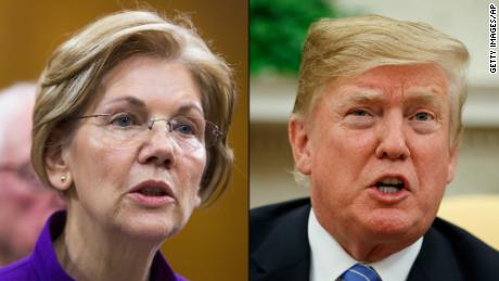 Trump says 'who cares' after Warren takes DNA test, denies $1 million offer