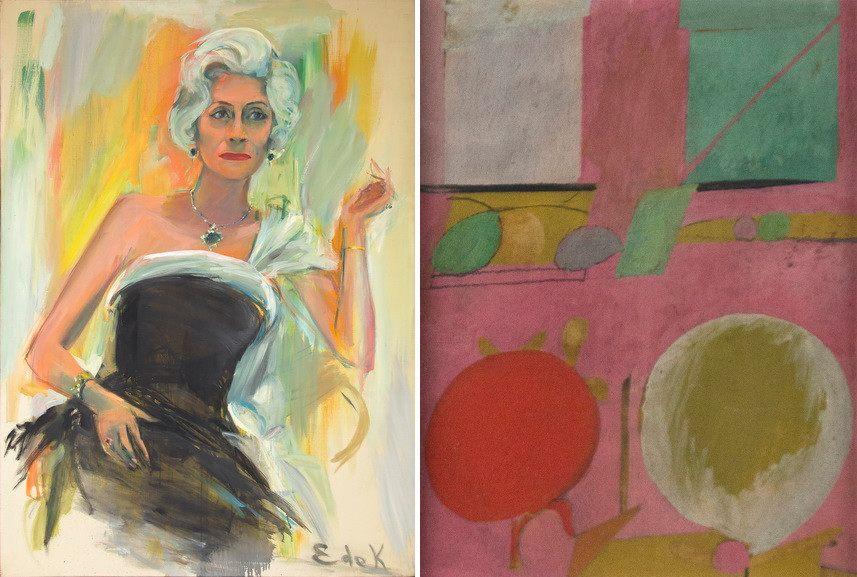 Elaine de Kooning - Portrait of Ethel Epstein, 1964, Willem de Kooning - Untitled, c. 1939