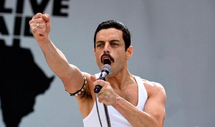 "Rami Malek in ""Bohemian Rhapsody."""