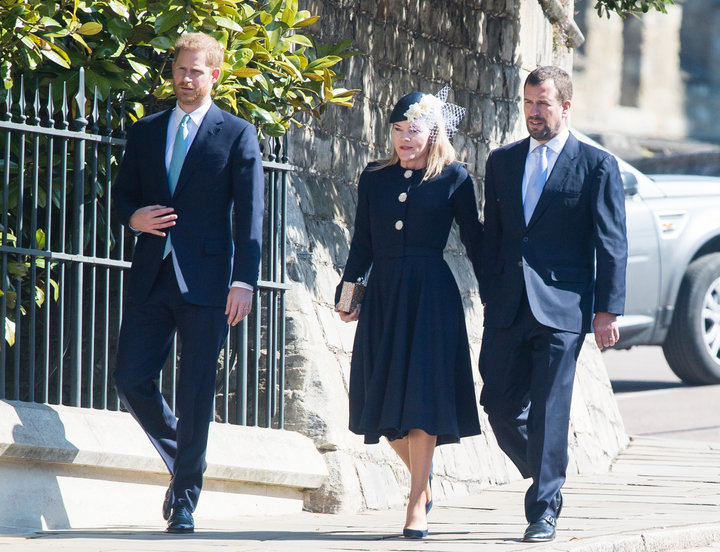 The Duke of Sussex leaving alongside Autumn and Peter Phillips on April 21.