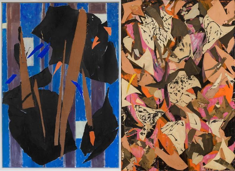 Left Lee Krasner - Blue level Right Lee Krasner - Bald Eagle