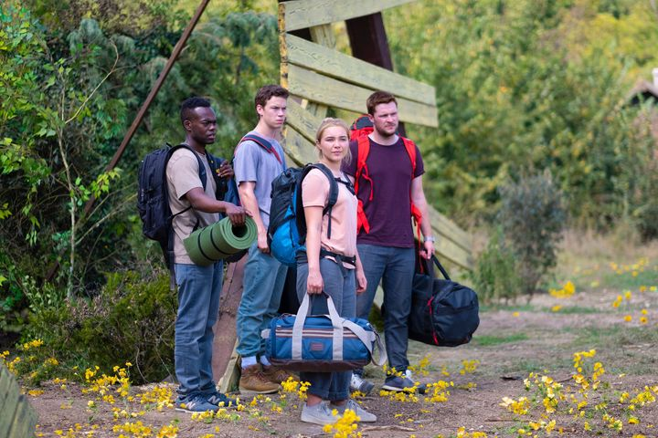 """William Jackson Harper, Will Poulter, Florence Pugh and Jack Reynor in """"Midsommar."""""""