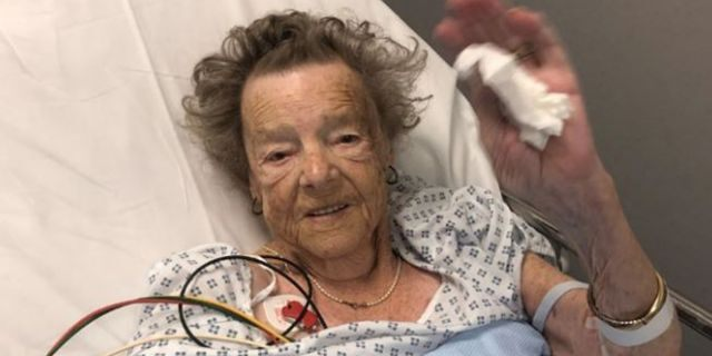 Betty Munroe, 93, was diagnosed with broken heart syndrome after surviving a burglary in her home.
