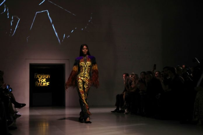 Model Naomi Campbell walks the runway at the Fashion For Relief charity event in central London, Saturday, Sept. 14, 2019. (Photo by Vianney Le Caer/Invision/AP) thegrio.com