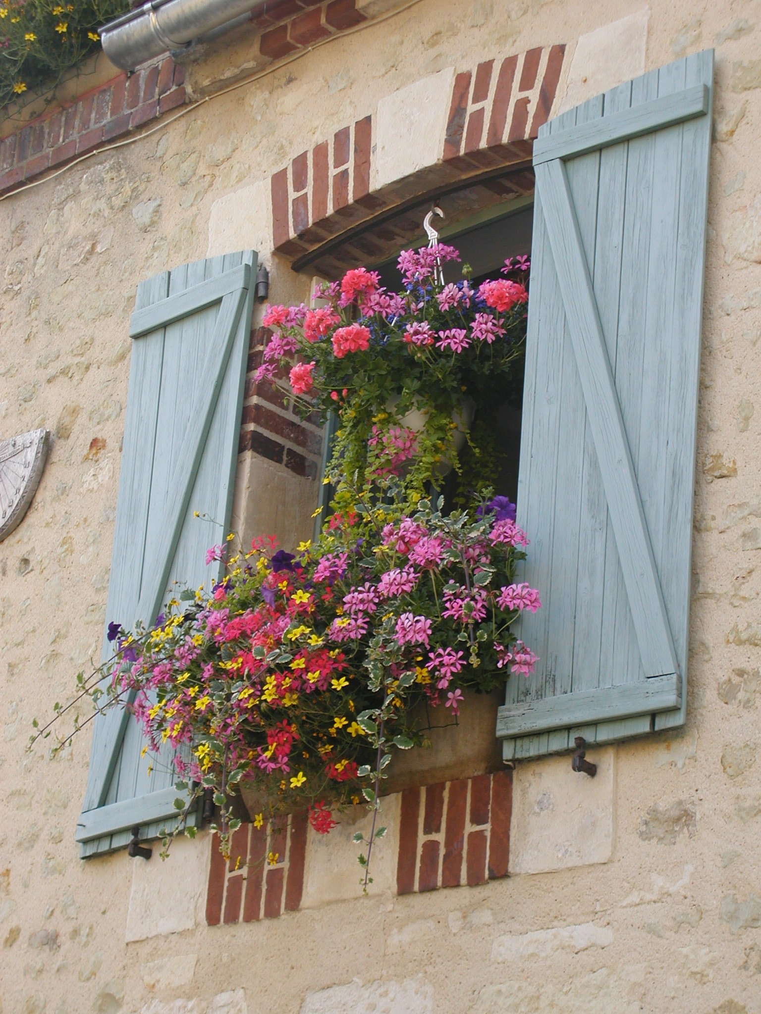 French Board and Batten Shutters with Diagonal Bracing