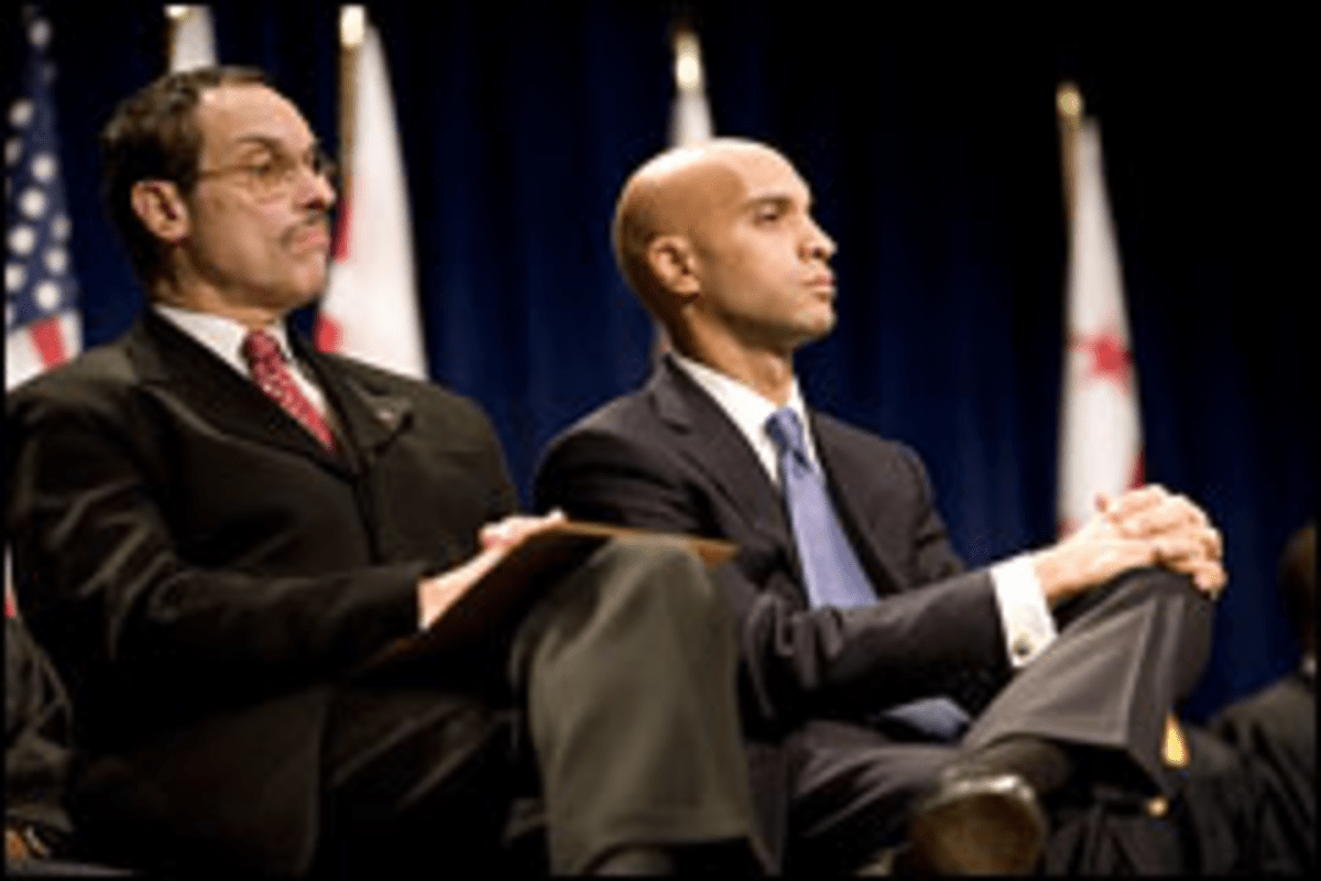 Coattail Chasers: Gray, left, and Fenty are fighting over the race for Gray?s Ward 7 successor.