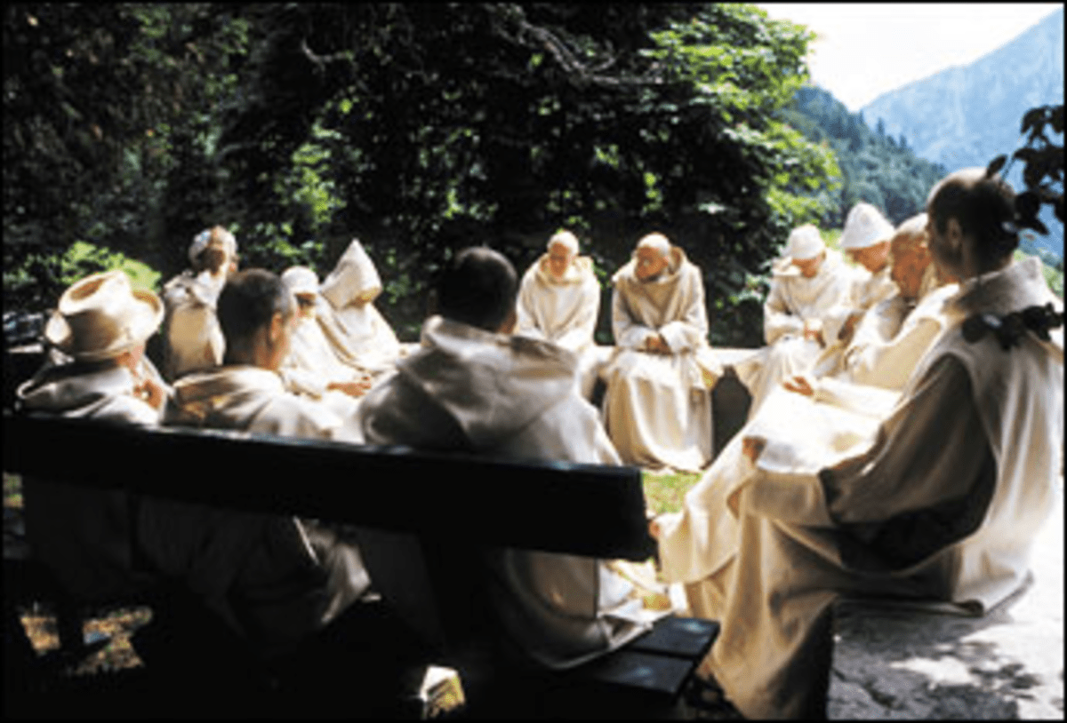 Deep Friars: Into Great Silence's monks quietly commune.