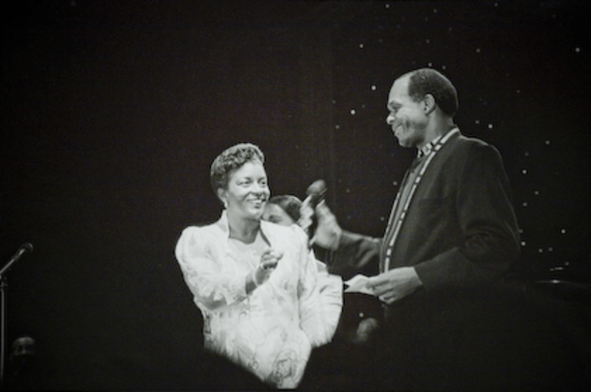 Cora Masters Barry at ayoral Ball in 1995 with then husband Marion Barry.